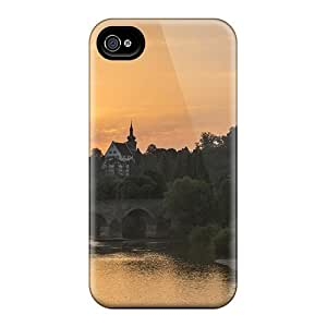 Awesome ZGzZEgo6306LEArW Mialisabblake Defender Tpu Hard Case Cover For Iphone 4/4s- Bridge In A Lovely Town At Sunset