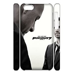 Lycase(TM) Fast and Furious 7 Customized 3D Phone Case, Fast and Furious 7 Iphone 5C Protective 3D Case