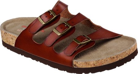 Skechers Womens Relaxed Fit Granola Nature Role Slide Brown