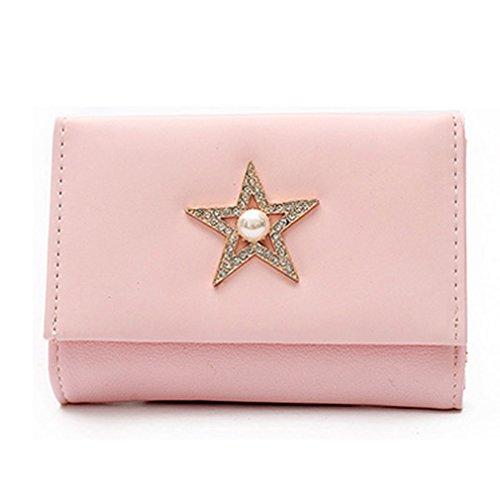 Pentagram Wallet (Women Mini Thin Small Pentagram Wallet)