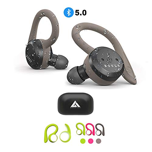 781b45a6f90473 Boult Audio AirBass Tru5ive True Wireless Bluetooth 5.0 Earphones with mic,  Charging Case Auto Pairing and Dual Connectivity Headset IPX7 Waterproof  Deep ...