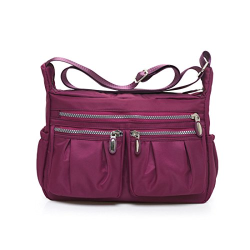 Pocket Handbag Multi Ericoy Purple Red Cross Wine Casual Travel Body Messenger 5taxxqwd