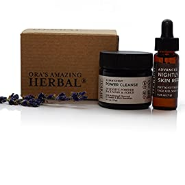 Natural-Face-Skincare-Gift-Set-Fragrance-Free-Power-Cleanse-Mask-Scrub-and-Cleanser-with-Activated-Charcoal-Lightweight-Daily-Face-Serum-Oil-Antioxidant-Moisturizer-Travel-Size-Vegan-Paraben-Free