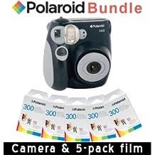 Polaroid PIC-300 Instant Camera in Black + Accessory Kit