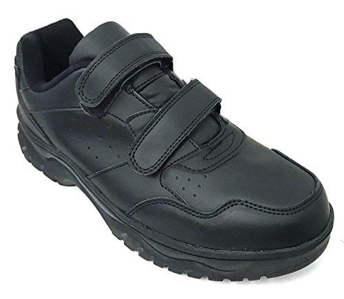 Price comparison product image G4U F-34S Men's Sneakers Comfort Hook and Loop Work Walking Shoes (7 W US,  Black)