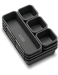 madesmart Value 8-Piece Interlocking Bin Pack - Granite | VALUE COLLECTION | Customizable Multi-Purpose Storage | Durable | Easy to Clean | BPA-Free