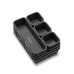 Keep your entire household's items organized with the madesmart 8-Piece Interlocking Bin Pack. Neatly organize everything, from office supplies to kitchen cutlery, and use the small containers for storing rubber bands and other small items. While the...