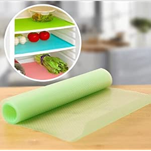 Silicone Can Be Cut Anti-bacterial Anti-fouling Refrigerator Pads Mildew Moisture Absorption Pad,set of 4,45x30x0.01cm