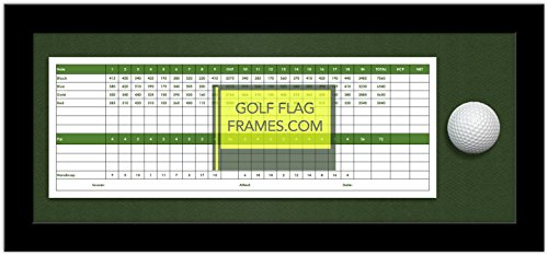 7x17 Black Golf Scorecard & Ball Frame, Moulding - Golf Scorecard Frame