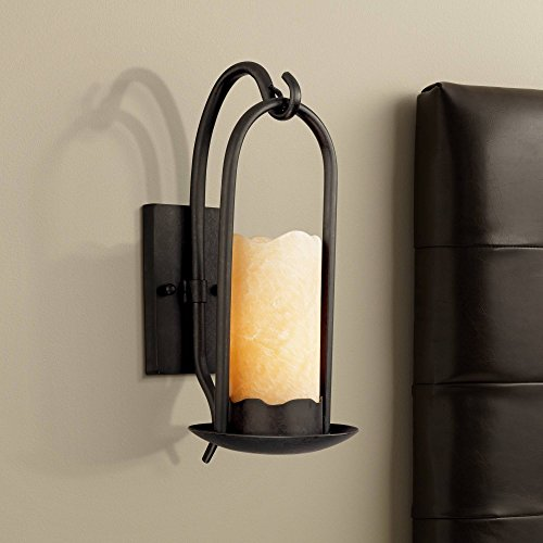 (Hanging Onyx Faux Candle Wall Sconce - Franklin Iron Works)