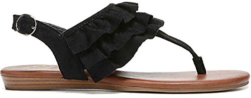 Fergalicious Womens swoon Fabric Open Toe Casual Slingback Sandals Black