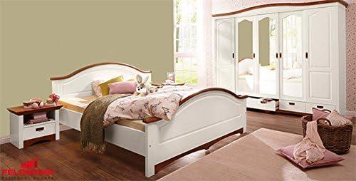 Schlafzimmer Set 4 Teilig 227502 Weiss Kirschbaum Kiefer Massiv 180x200cm Amazon De Kuche Haushalt