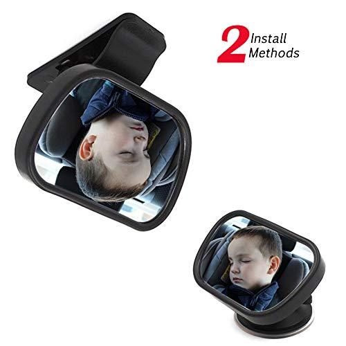 Bebé del asiento trasero del espejo para coches - Vista posterior infantil en frente del asiento trasero 丨 fijada de forma...