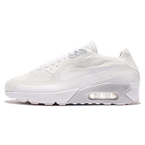 Nike Men's Air Max 90 Ultra 2.0 Flyknit, Pure PlatinumCool Grey White, 12 M US