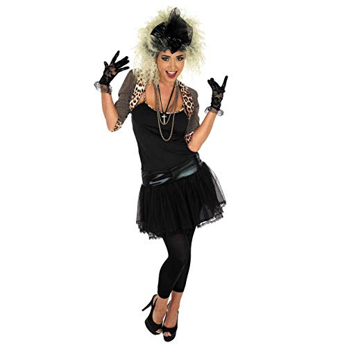 Celebrity Halloween Outfit (Womens 80s Pop Diva Costume Celebrity Singer Decades Outift -)