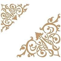 Stencil Deco Cenefa 020 Esquina Dos Tamaños. Medidas