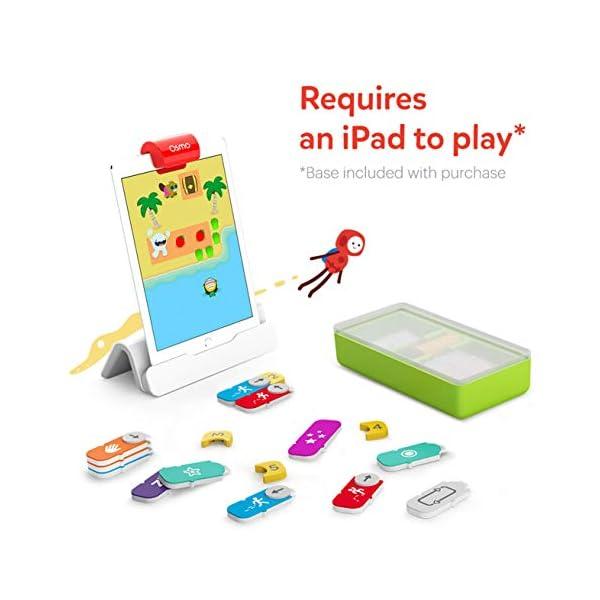 Osmo - Starter kit per iPad 3 giochi di apprendimento pratici - età 5-10+ - Imparare a codificare, codificare le basi e codificare puzzle - Base iPad inclusa, 901-00039 2 spesavip