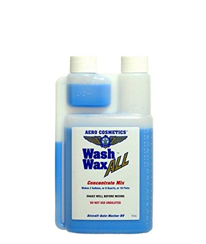 Wash Wax ALL Waterless Aircraft RV Boat Car Wash & Wax 2 Gallon Concentrate 16 Ounce