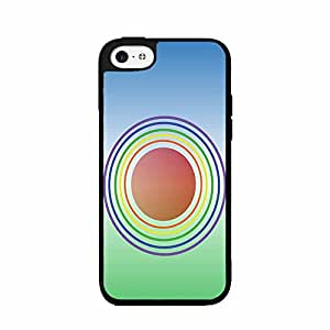 Rainbow Circles TPU RUBBER SILICONE Phone Case Back Cover iPhone 4 4s includes BleuReign(TM) Cloth and Warranty Label