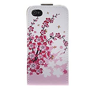 NEW Plum Blossom PU Leather Full Bady Case for iPhone 4/4S
