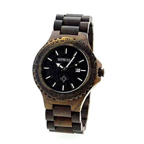 GBSELL Fashion Men's Natural Wooden Wristwatch Wood Watch Quartz with Date + - Kors Men Michael Sale