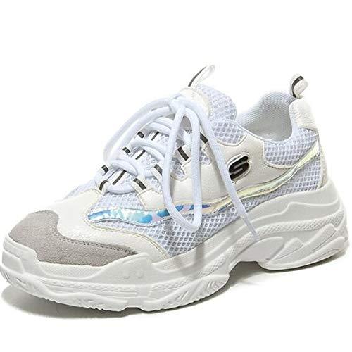 Punta Estate Sneakers piatto ZHZNVX Suede da Black Tacco Primavera chiusa donna Vacchetta Comfort Bianco Nero Scarpe PgYqgU