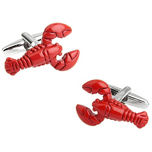 Graybird Red Lobster 1 Pair Cufflinks Fashion French Cuff Links with Gift Box ()