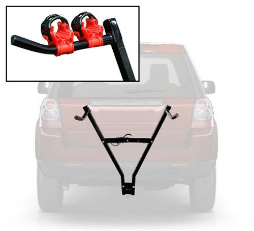 Voche® Universal Car Towbar Mounted 2 Cycle Bike Carrier with 4 Free Clamps Tooltime