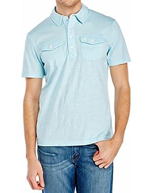 Men's Updated Slub Double Pocket Polo Shirt