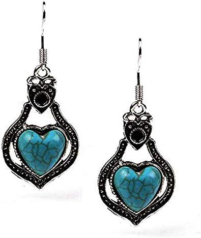 Nice Elegant Round Turquoise  Tibetan Sliver  Earrings  Stud  Earrings Gift