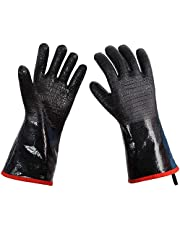 Color You BBQ Gloves, 932℉ High Heat Resistant Gloves Kitchen Cooking Gloves, Oven Barbecue Gloves, Great for Cooking, Baking, Fryer, Grill, Waterproof, Fireproof, Oil Resistant Neoprene Material