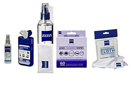Zeiss toallitas prehumedecidas 60 ct y la lente Zeiss Spray 8oz con 1 lente Zeiss Bono