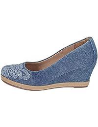 Sapato Scarpin Feminino Anabela Jeans Valentina 500189