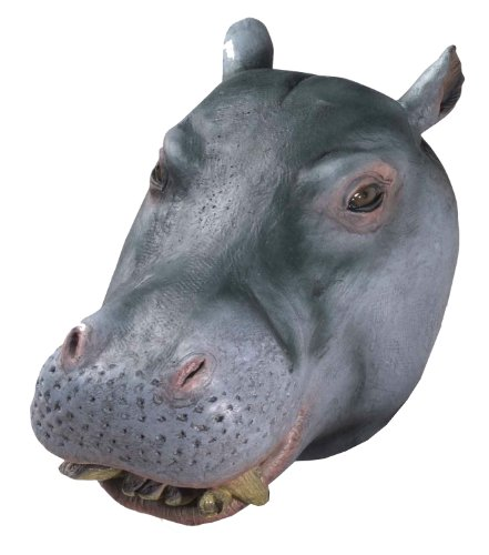 Forum Novelties Men's Deluxe Adult Latex Hippo Mask, Multi Colored, One Size -