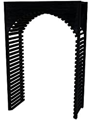 Wine Cellar Innovations DPM MB ARCH2 A3 Designer Series Archway 2 Wine Rack Prime Mahogany Without Lacquer Finish Midnight Black Stain
