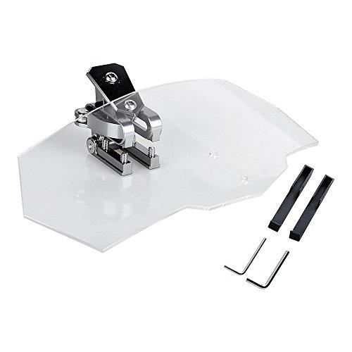 Universal Motorcycle Adjustable Clip On Windscreen Extension Windshield Spoiler Wind Deflector