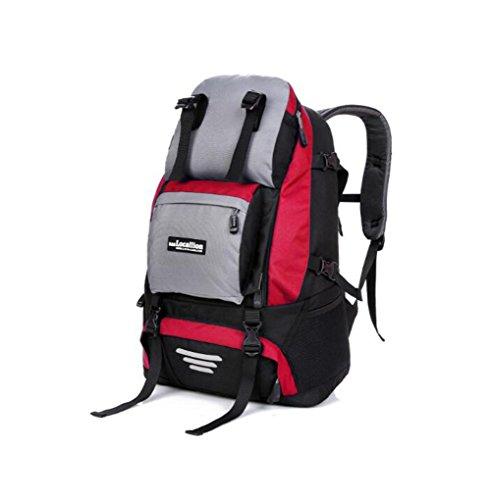 Wmshpeds Zaino sportivo pacchetto esterno nero colore solido outdoor borsa da viaggio