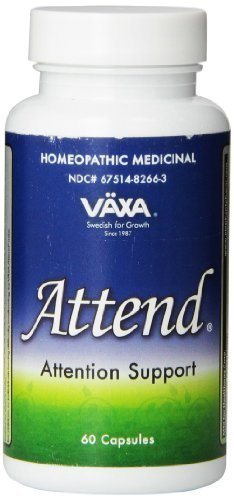 VÄXA Attend | Healthy Mental Alertness, Focus & Mood Support for Children, Teenagers & Adults | Homeopathic Formula | 60 Capsules by VÄXA