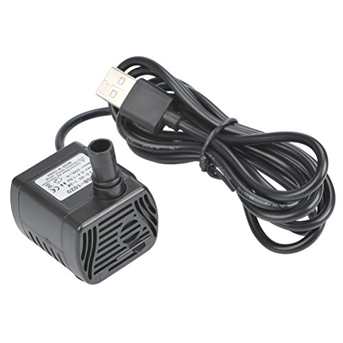 ATPWONZ 200L/H Mini USB Submersible Water Pump Ultra-quiet Aquarium Fountain Pond Pump for Fish Tank Water Feature (USB DC 3.5-9V 1-3W)