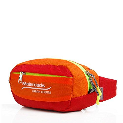 Bolsillos exteriores/Bolso de hombro de los hombres y las mujeres/Paquete de múltiples funciones del teléfono celular personal/Paquete de ocio al aire libre/Funcionamiento bolsa de cintura-2 pequeña