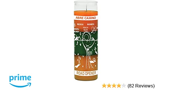 Indio Products Road Opener Orange/Green/Gold Candle - Silkscreen 3 Color 7  Day