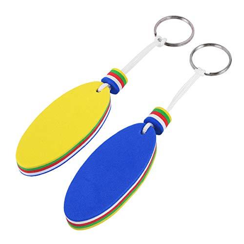 BESTONZON 2PCS Kayak Canoe Floating Keychain Keyring Key Ring Key Holder for Marine Boat Fishing Sailing Water Sports ()