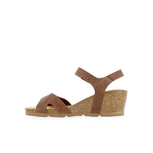 Yokono Women's Cadiz Sprinter Platform Sandals, Brown Brown (Cuero 002)