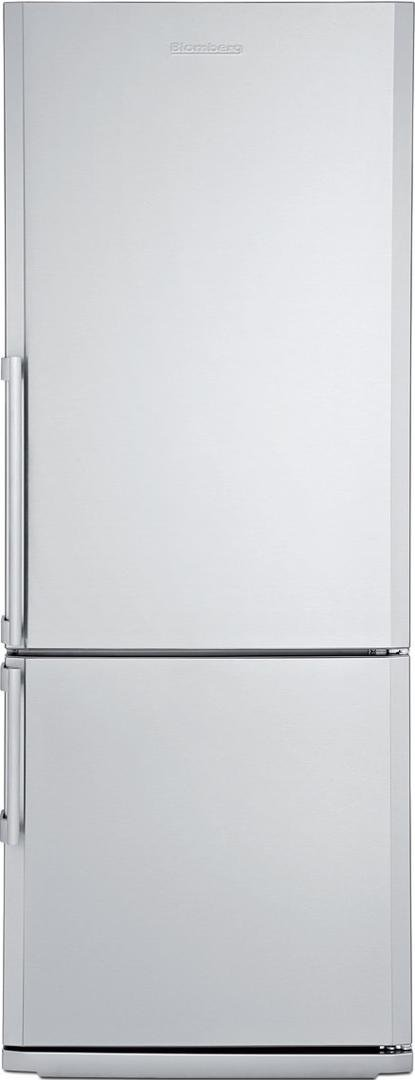 BRFB1452SSN 28'''' 13.8 cu. ft. capacity Bottom Freezer Refrigerator With Chrome Coated Wine Rack Bottle Holder Three Safety Glass Shelves Four Door Racks Reversible Door and In Stainless Steel