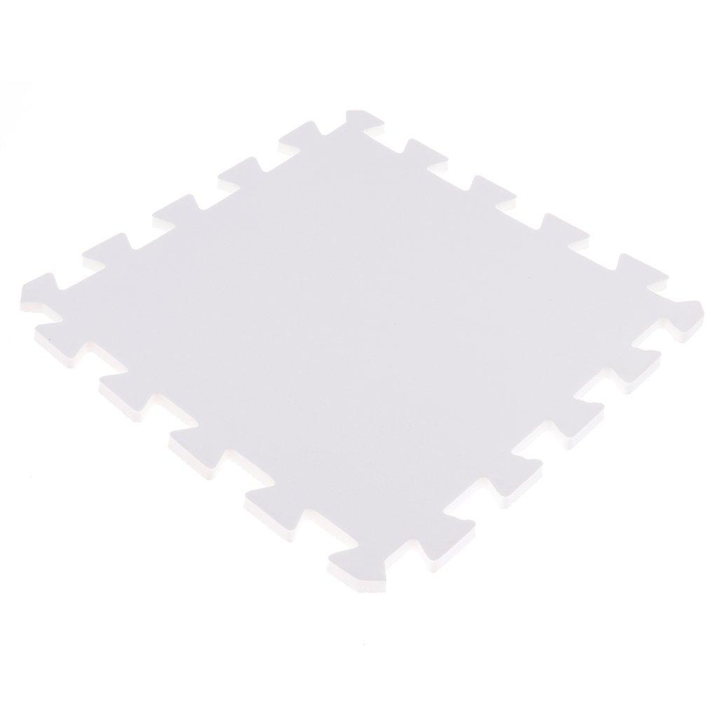 Blanc Bleu 30 Dalles Puzzle en Mousse Motif Tapis Sol Homyl 18pcs 30