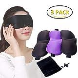 Product review for KINYA 3D Unisex Sleep Masks, Eyeshade for Travel or Nap Meditation & Eye SPA, Super Soft & Adjustable Elastic Velcro Comfortable Eye Mask, The Best Night Sleeping Blindfold,Pack of 3