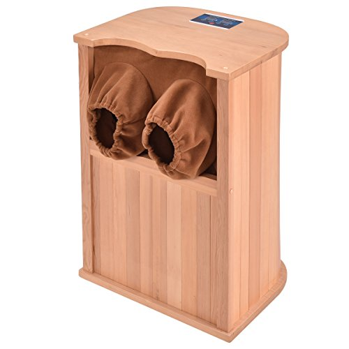 Giantex Infrared Foot Sauna Bath Wooden Spa & Therapy with C