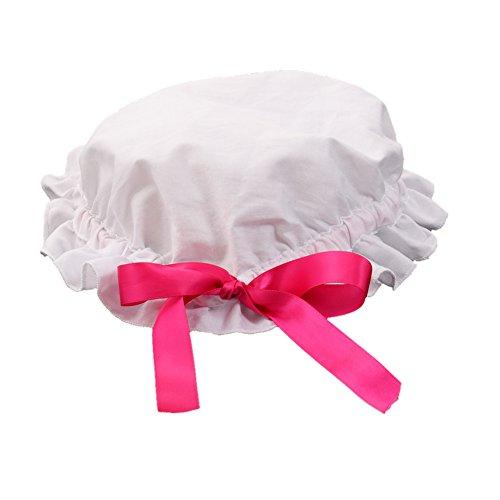 GRACEART Women's Mob Cap Bonnet Colonial Costume Accessory 100% Cotton (Style-1) -