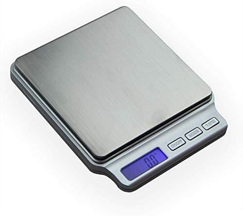 Elektronische Waage Digitale Taschengrammwaage 2000 G X 0,1 G Küchen-Kochwaagen Elektronische Waage Gewichtswaage Edelstahlplattform
