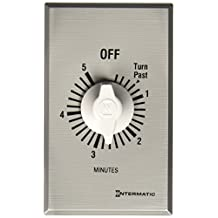 Intermatic FF5M 5-Minute Spring Loaded Wall Timer, Brushed Metal